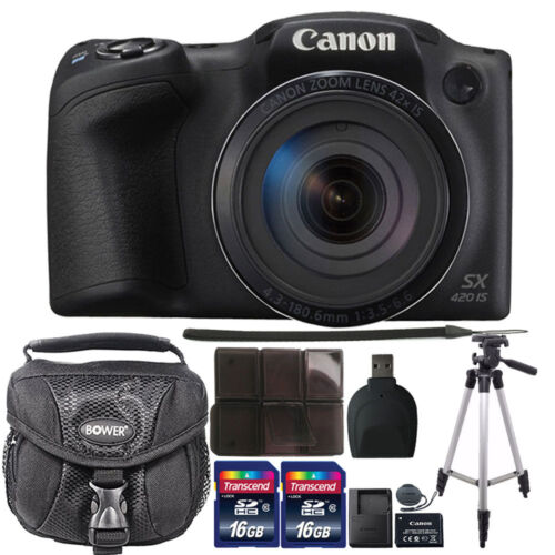 Canon PowerShot SX420 IS HD Wi-Fi 20MP Digital Camera 32GB A
