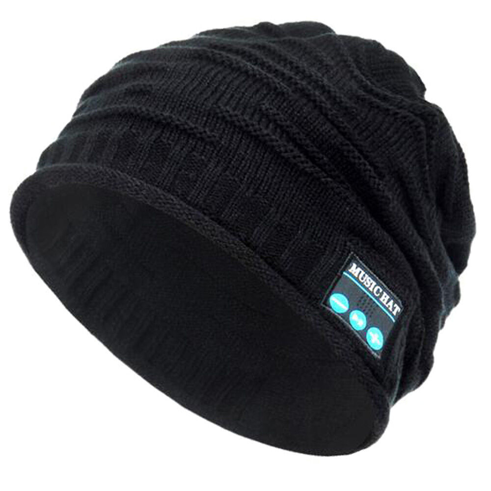 Bluetooth Music Warm Beanie Hat Wireless Smart Cap Headset Headphone Speaker Mic