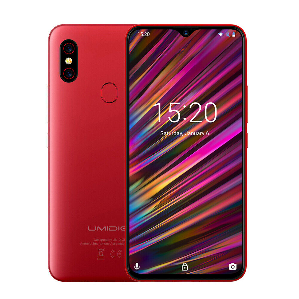 UMIDIGI F1 Android 9.0 6.3 Zoll 128GB 4GB Smartphone Handy ohne Vertrag NFC Rot