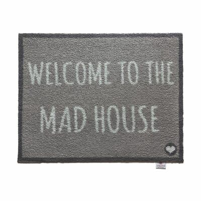 Hug Rug Welcome to the Mad House Rug Mat Runner 65x85cm Highly Absorbent