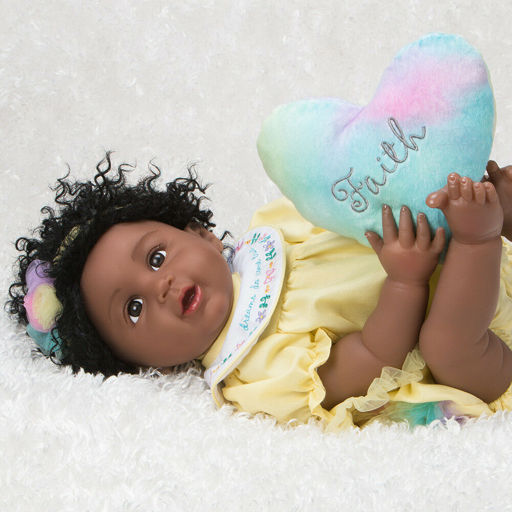 Paradise Galleries African American Black Reborn Doll Rainbow Blessings: Faith
