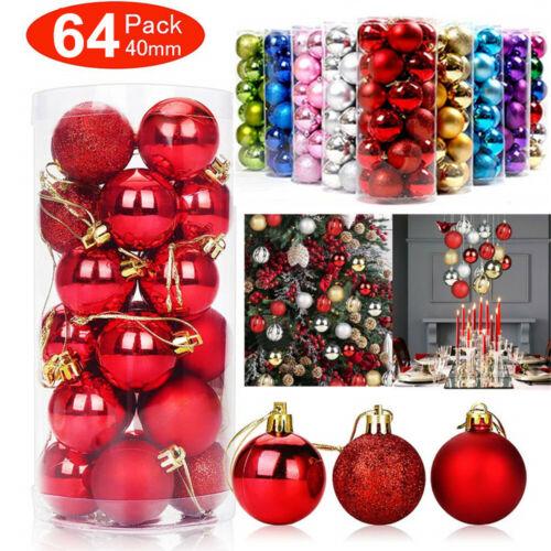 UK Christmas Tree Xmas Balls Decorations Baubles Party Ornament 4-12cm Lot10