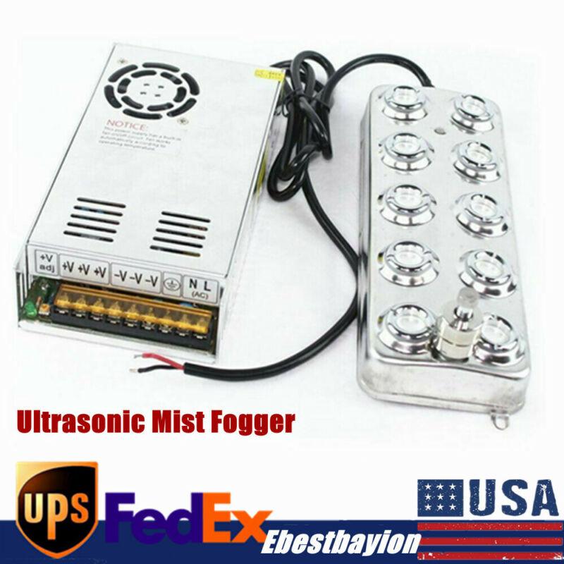 Waterproof Ultrasonic Mist Maker 10 Head Ultrasonic Mist Fogger Humidifier