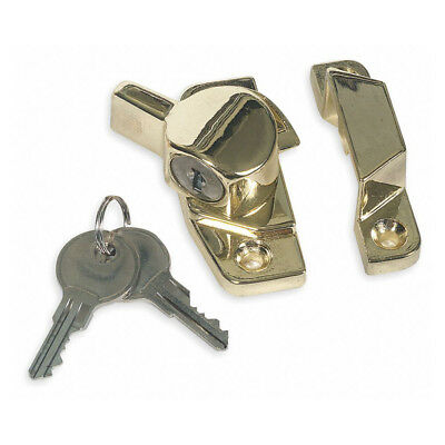 Sliding Window Sash - Keyed Window Sash Lock for Sliding Windows - Keyed Differently - Brass Finish