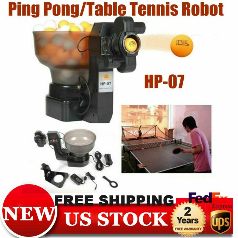 Table Tennis Robot Machine,HP-07 Automatic Ping Pong Ball Training Machine NEW
