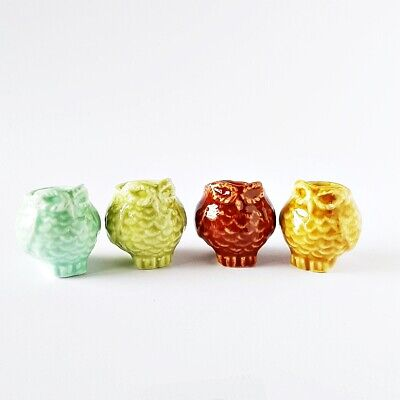 4x Owl Plant Flower Pots Ceramic Mini Dollhouse Miniature Fairy Garden Decor](Mini Flower Pots Bulk)