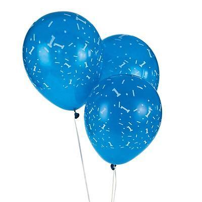 "1st Birthday Blue Latex Balloons 11"" Sprinkles Around Party"