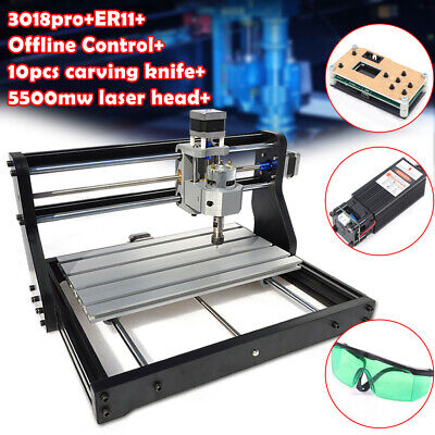 Cnc 3018 Pro Router 3 Axis Engraving Pcb Wood Diy Milling5500mw Laseroffline