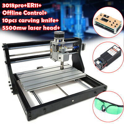 Cnc 3018 Pro Router Offline 3 Axis Engraving Wood Diy Mill5500mw Laser Head