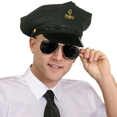 ADULTS CHAUFFEUR COSTUME SET LIMO DRIVER HAT GLASSES - Chauffeur Kostüme