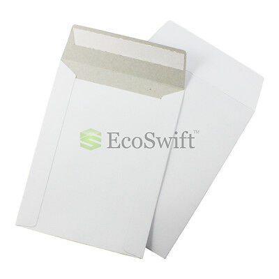 1 - 6 X 8 White Cddvd Photo Ship Flats Cardboard Envelope Mailer Mailers 6x8