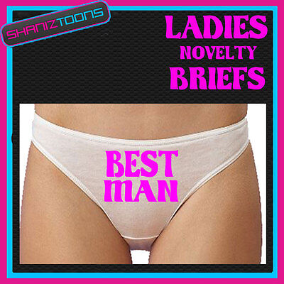 WOMENS KNICKERS PERSONALISED BEST MAN FUNNY