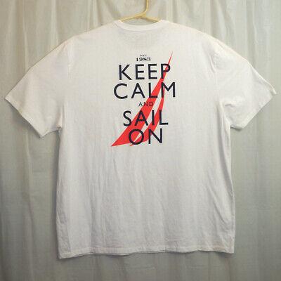 Nautica Graphic T-Shirt Men's 3XL XXXL White Keep Calm And Sail On Unworn w/Tag