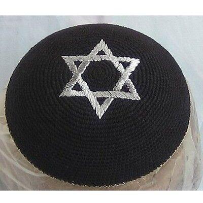 Kippah Yarmulke Jewish Israel Judaica Yamaka Kippa Shabbat Star Of David Black