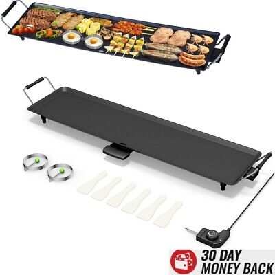 Commercial Electric Flat Top Grill Griddle Non Stick Stainless Steel Large 35 In