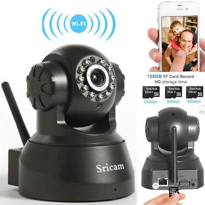 Sricam 720P HD IR Night Wireless P2P Home Network IP Webcam Security Camera WiFi