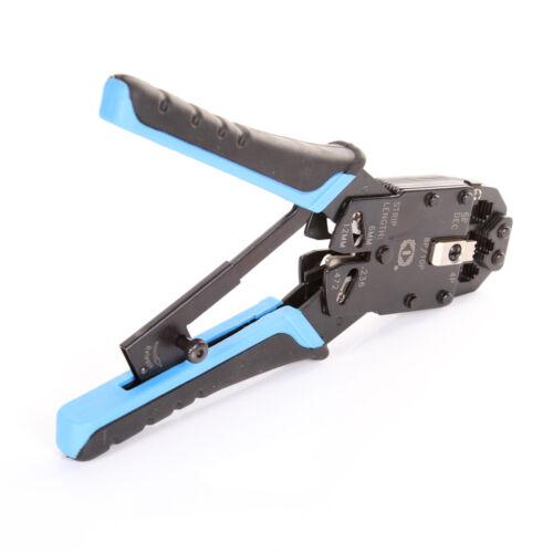 """RJ11//RJ12//RJ45 Network LAN Cable Crimper Modular Plug Crimping Pliers Tool 8/""""USA"""
