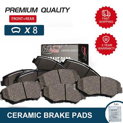 For 2007-2009 2010 2011 2012 Nissan Altima Front+Rear Disc Ceramic Brake Pad Set