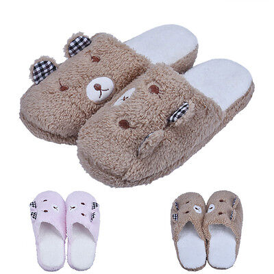 Lovely Bear Home Floor Slippers For Women Soft Cotton-padded Slipper Shoes 36-40