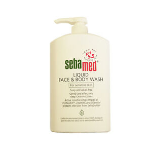 Sebamed Liquid Face And Body Wash Pump Pot For Sensitive Skin 1000ml