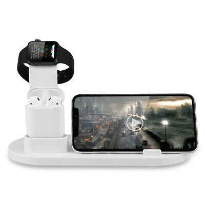3in1 Wireless Charger Dock Stand Charging Station for Apple Watch iPhone AirPods