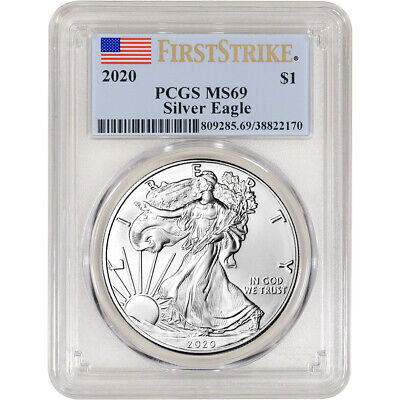 2020 American Silver Eagle - PCGS MS69 - First Strike