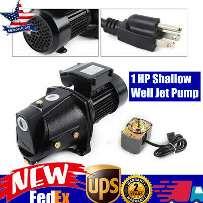 1 Hp Shallow Well Jet Pump W Pressure Switch 110v Water Jet Pump 4000lh