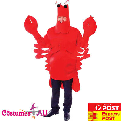 Mens Red Lobster Costume Funny Unisex Monster Sea Animal Stag Night Book Week](Mens Monster Costume)