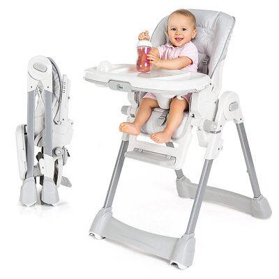 Fillikid Baby Hochstuhl Babystuhl Liegefunktion höhenverstellbar & klappbar Grau