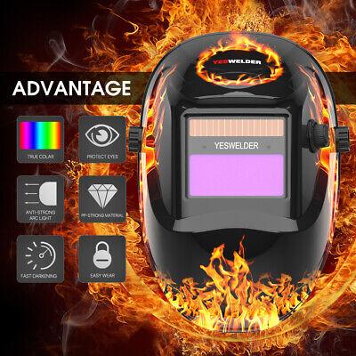 True Color Pro Solar Auto-darkening Welding Helmet Welder Mask Hood Arc Tig Mig