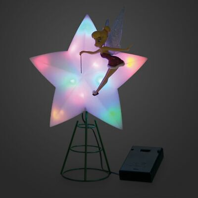 NEW! Disney Store Tinker Bell Light Up Holiday Christmas Tree Topper 2020