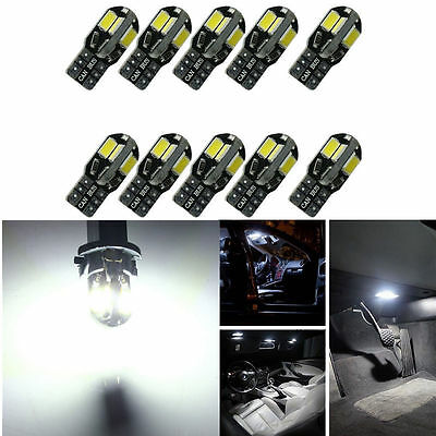 Car Parts - 10x Canbus T10 194 168 W5W 5730 8 LED SMD White Car Side Wedge Light Lamp 10PCS