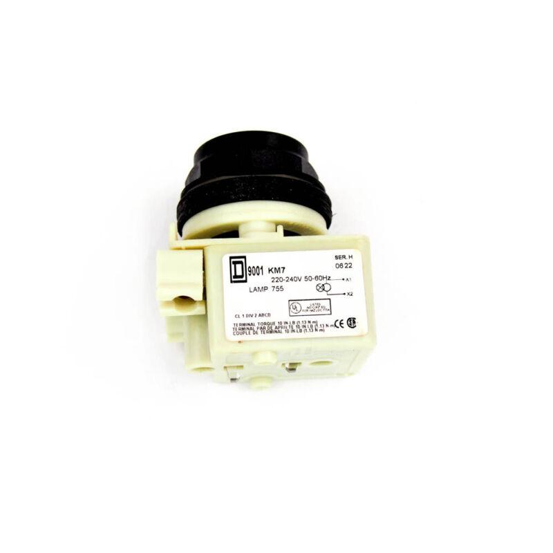Square D 9001SKP7 Pilot Light (No Lens) 240VAC Incandescent Lamp 30mm Round