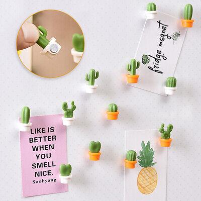 6Stücke Magnetischen Kühlschrank Aufkleber 3D Kaktus Kühlschrankmagnete Deko LP ()
