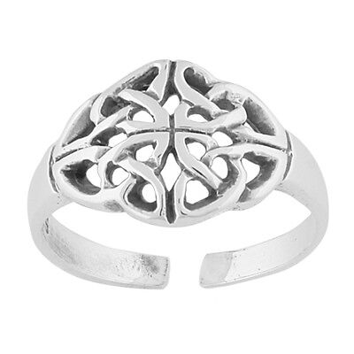 New Sterling Silver Celtic Knot Adjustable Midi Knuckle Toe Ring