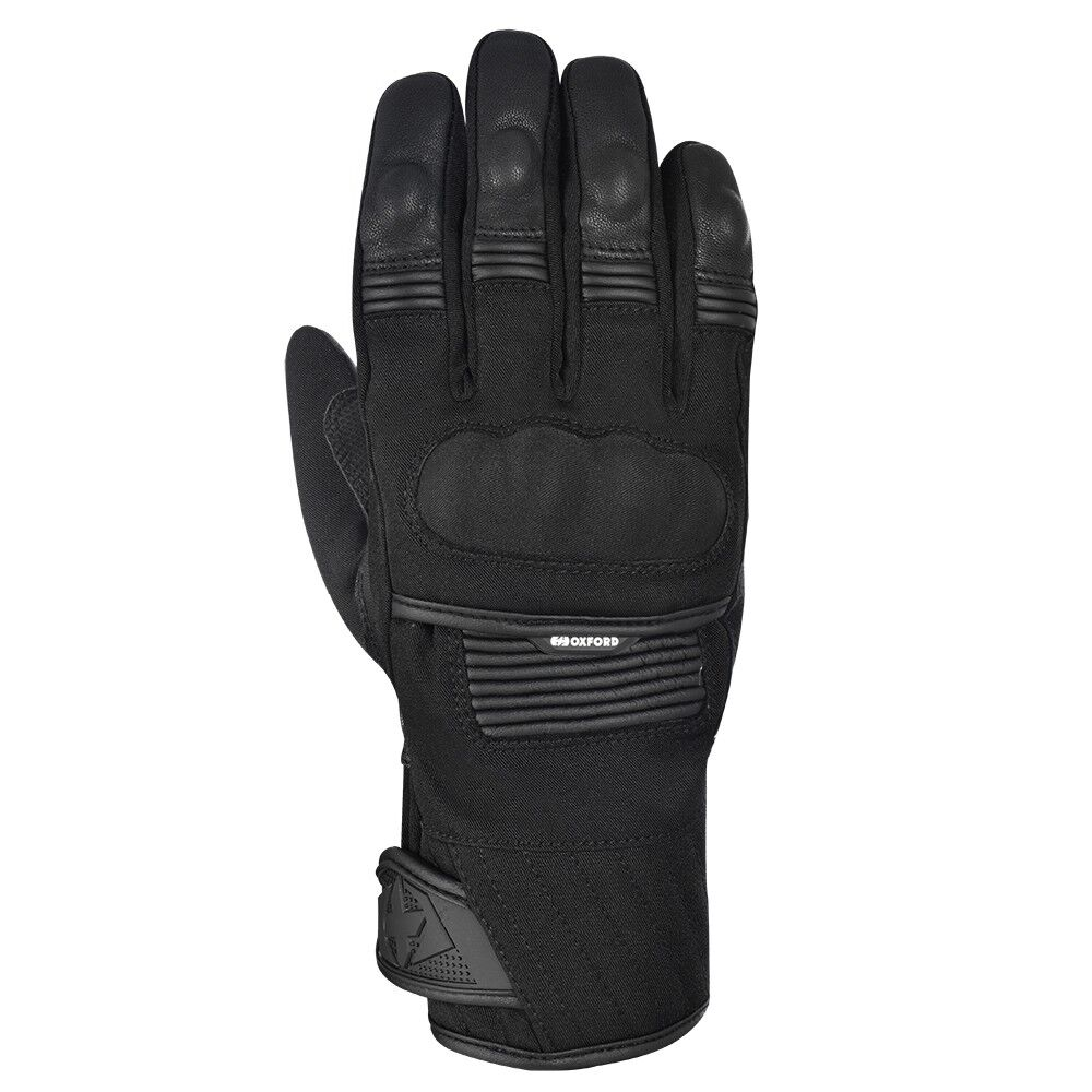 OXFORD TORONTO WATERPROOF TOURING MOTORCYCLE MENS GLOVES STEALTH BLACK T