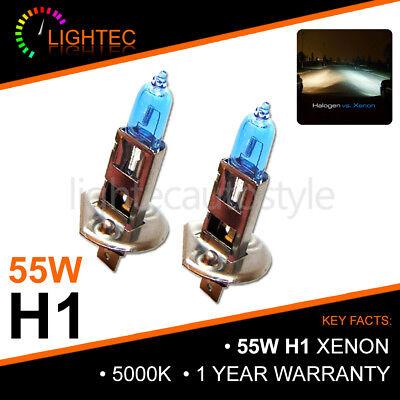 H1 55W XENON SUPER WHITE BULBS MAIN BEAM 12V HALOGEN UPGRADE LIGHT 5000K MG