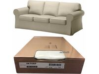 IKEA ektorp sofa bed as new with brand new covers in box