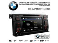 7 Inch HD Navigation Car Audio Bluetooth DAB+ Radio Tuner DVD USB SD GPS Stereo For BMW E46 3 Series