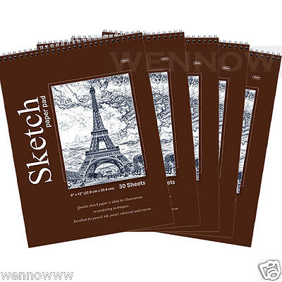 5pcs/Lot 30 CT Sheets 9 x 12 inches Premium Quality Sketches Pad Drawing Book