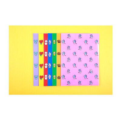 Bts Character Bt21 2 Pockets A4 Clear File Document Folder