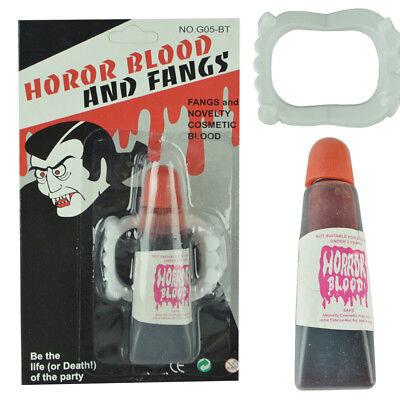 Fake Blood Gel Tube Horror Fancy Dress Costume Halloween Party Joke Red Toy Prop