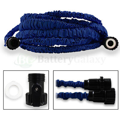NEW 50 Feet 50FT Expandable Flexible Garden Lawn Water Hose Nozzle Blue 900+SOLD