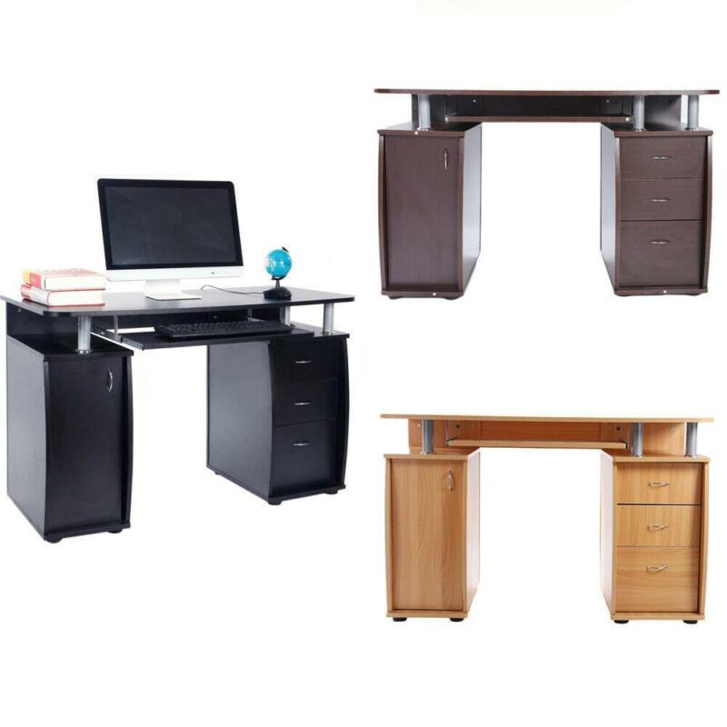 Computer Desk PC Laptop Table w/Drawer Home Office Study Workstation 3 Colors