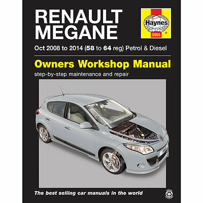 Renault Megane 2008-14 1.6 Petrol 1.5 Diesel Haynes Workshop Manual 58-64 Reg