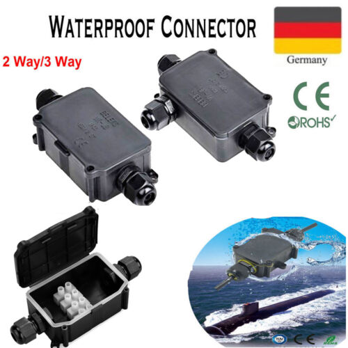 Abzweigdose Wasserdicht Kabelverbindung 2/3-fach Verbindungsbox Dosenmuffe IP68