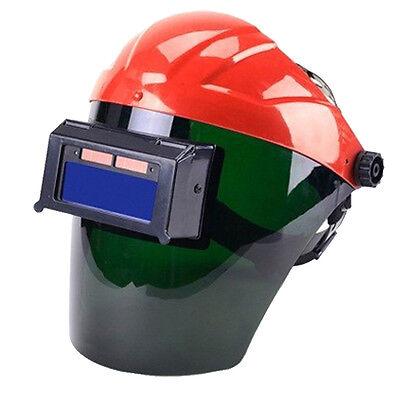 Red Solar Auto Darkening Welding Helmet Semi-open Solar Face Shield Solder Mask