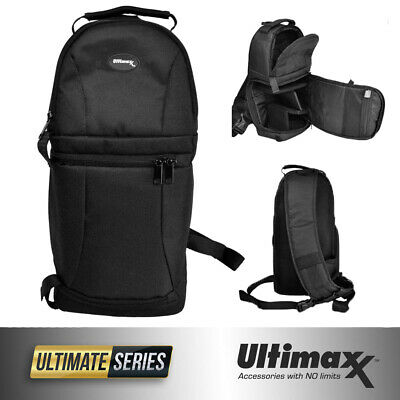 ULTIMAXX Water Resistant Camera Sling Backpack for DSLR Cameras Mavic 2 Pro/Zoom
