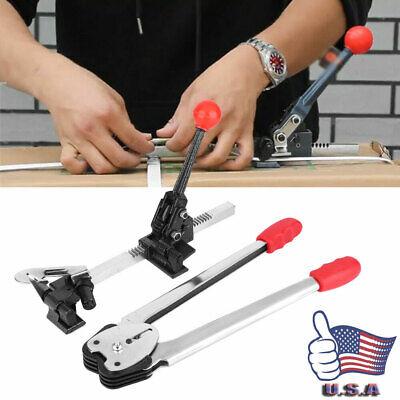 2 Pcs Petpp Manual Strapping Tool Tensioner Crimper Packing Pliers Sealer Kit