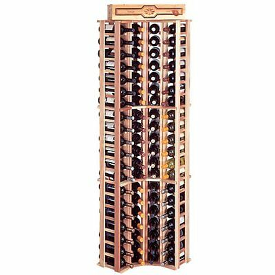 Wine Cellar Innovations Rustic Pine Curved Corner Wine Rack for 84 Wine (Curved Corner Wine Rack)